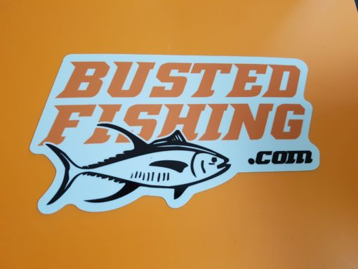 Busted Fishing Small Sticker